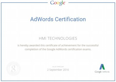 HMITech Adwords cert